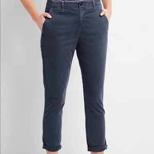 GAP Twill Girlfriend Striped Chinos
